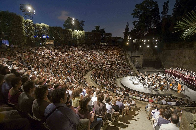 Image of Grec Theater in Barcelona home to some amazing music festivals in barcelona