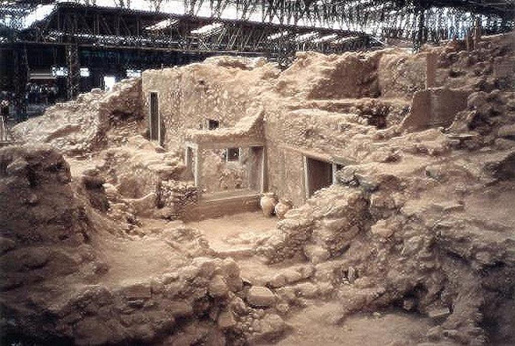 Archeological site at Akrotiri
