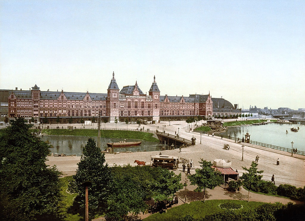 Amsterdam Centraal station, designed by Pierre Cuypers