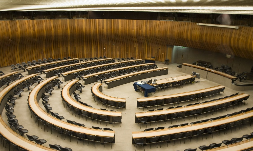 The Conference room in the Palace of Nations