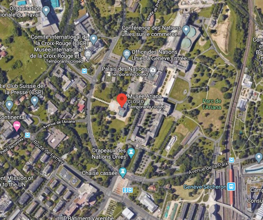 Satellite View of Ariana Museum