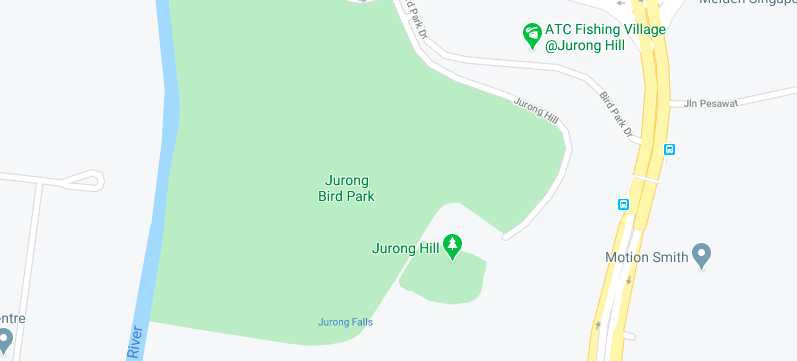 The Location of Jurong Bird Park
