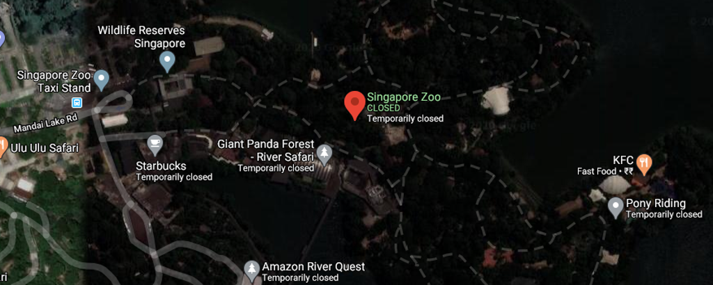 Location of the Singapore Zoo