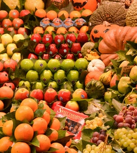 Fruit stall in La Boqueria