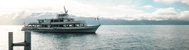 A cruise in the Lake Geneva