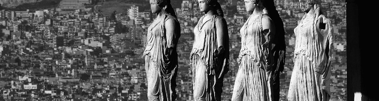 caryatids at Erechtheum