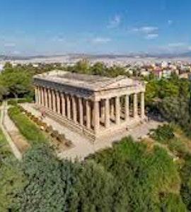 greek agora, agaora in athens, archeological site athens, Temple of Hephaestus, stoa of atallos