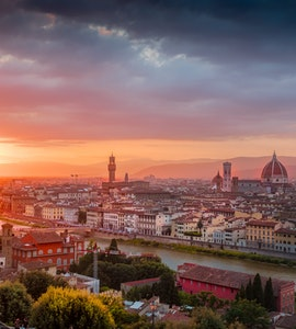 A view of the city from Piazzale Michelangelo