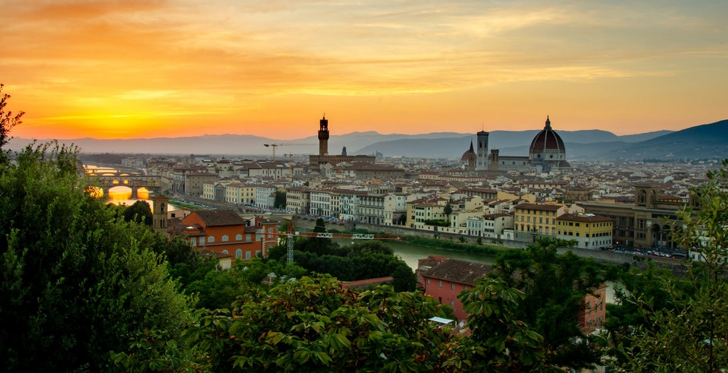 A beautiful view of Florence from the Piazzale