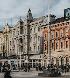 The main square in Zagreb