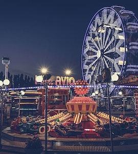 Theme park at Night