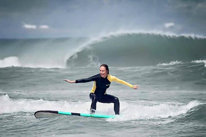 Surfing at Legian Beach