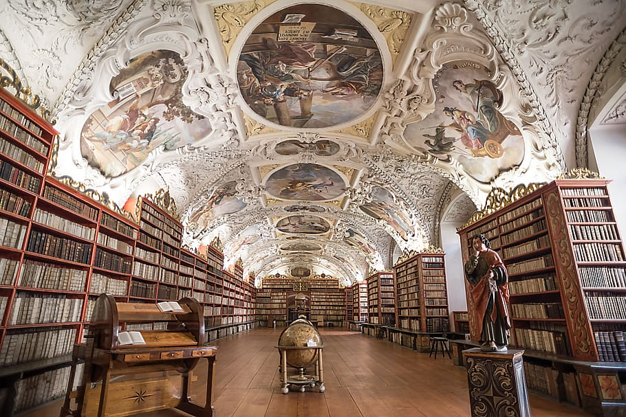 The interior of the Strahov Library