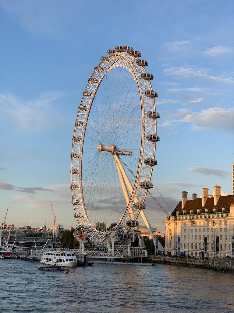 London eye on River Thames