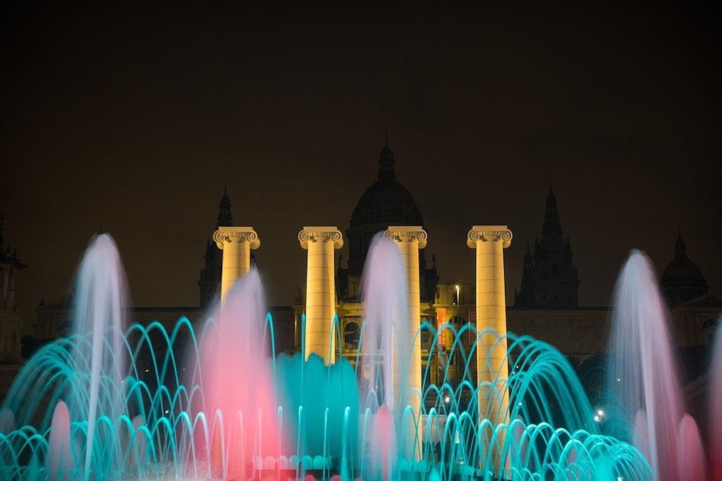 Magic Fountain of the Montjuic at Night