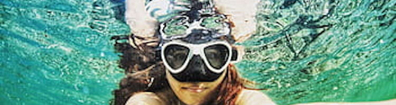 A girl while Scuba diving