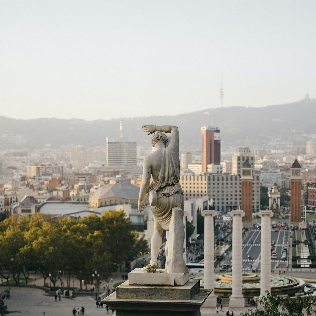 Plaça d'Espanya square at the foot of Montjuïc