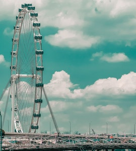 Singapore Flyer in the Marina Bay