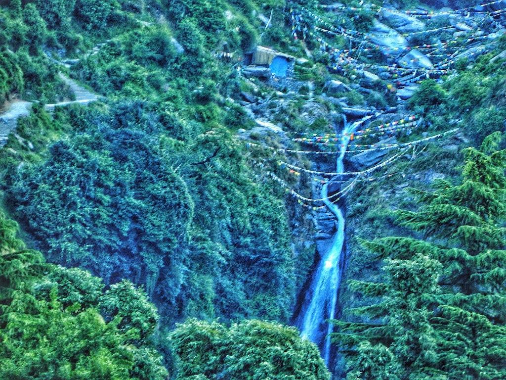 Bhagsunag waterfalls near Mc Leod one of the best places to visit near Dharamshala