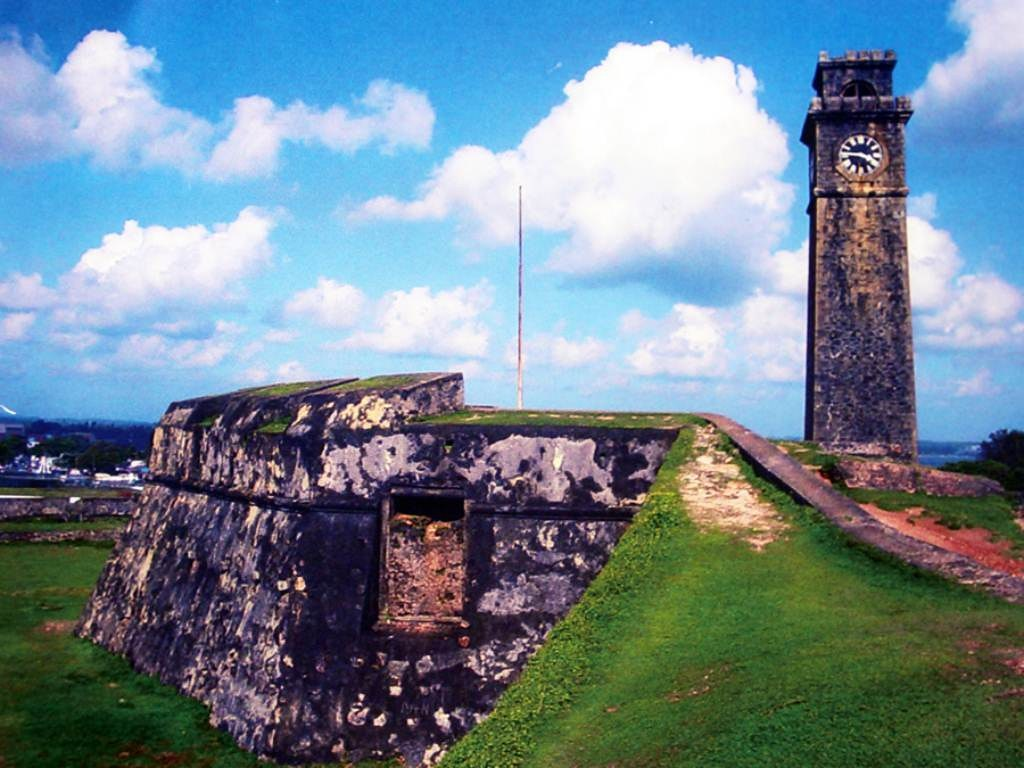 A fort at Galle, one of the top 10 places to visit in Sri Lanka