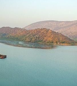 Beautiful Siliserh Lake on the outskirts of Alwar, Rajasthan