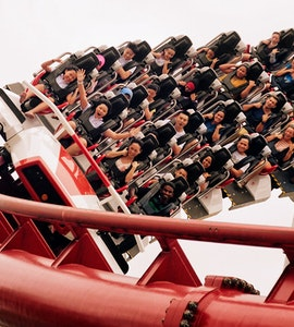 adrenaline pumping roller coaster ride