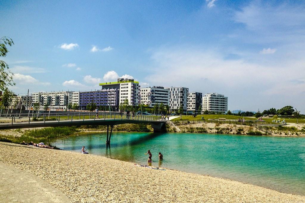 a pristine beach at vienna