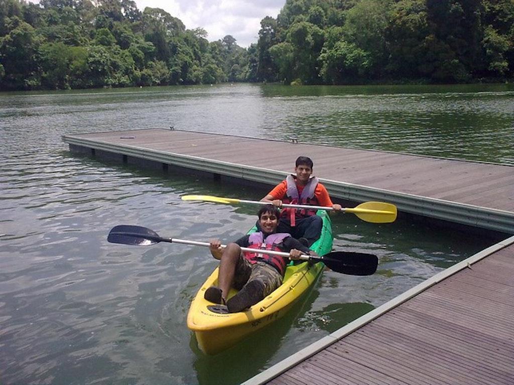 Kayaking at MacRitchie Reservoir Singapore