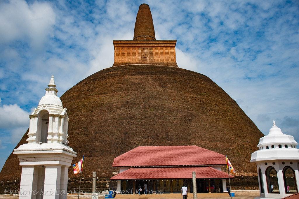 An outlook of Abhayagiri Dagoba in Sri Lanka