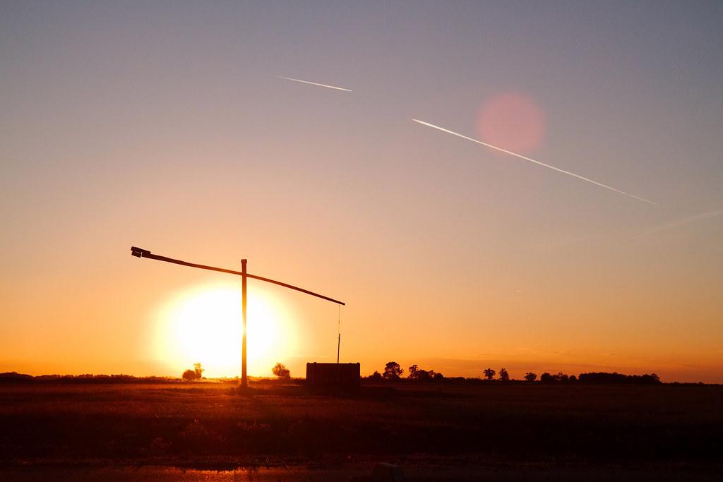 Hungary sunset