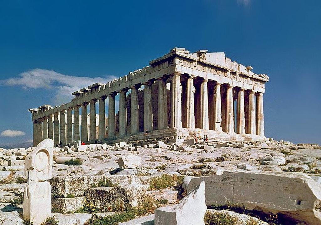 Parthenon of Athens painting