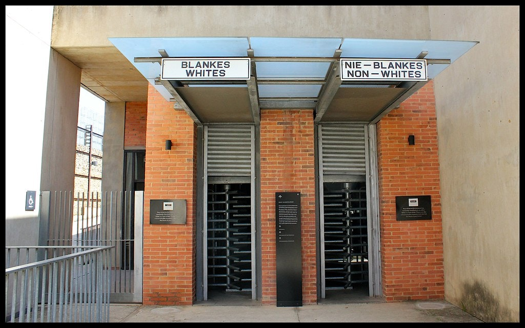 The starting of racial discrimination in the Apartheid museum