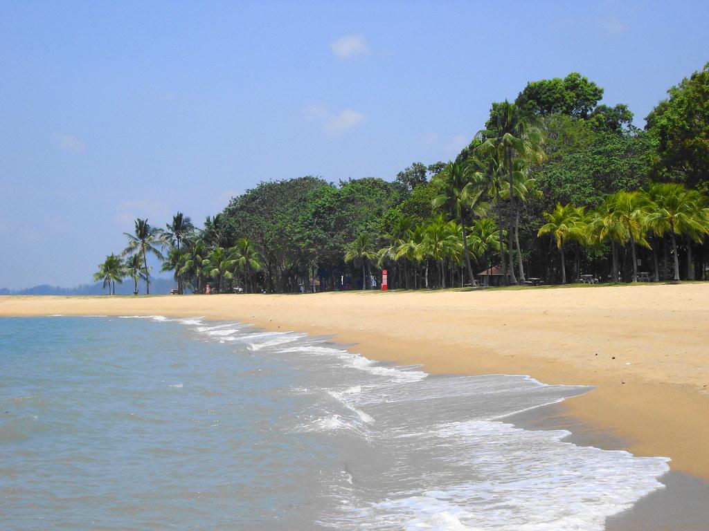 The beach at the East Coast Park