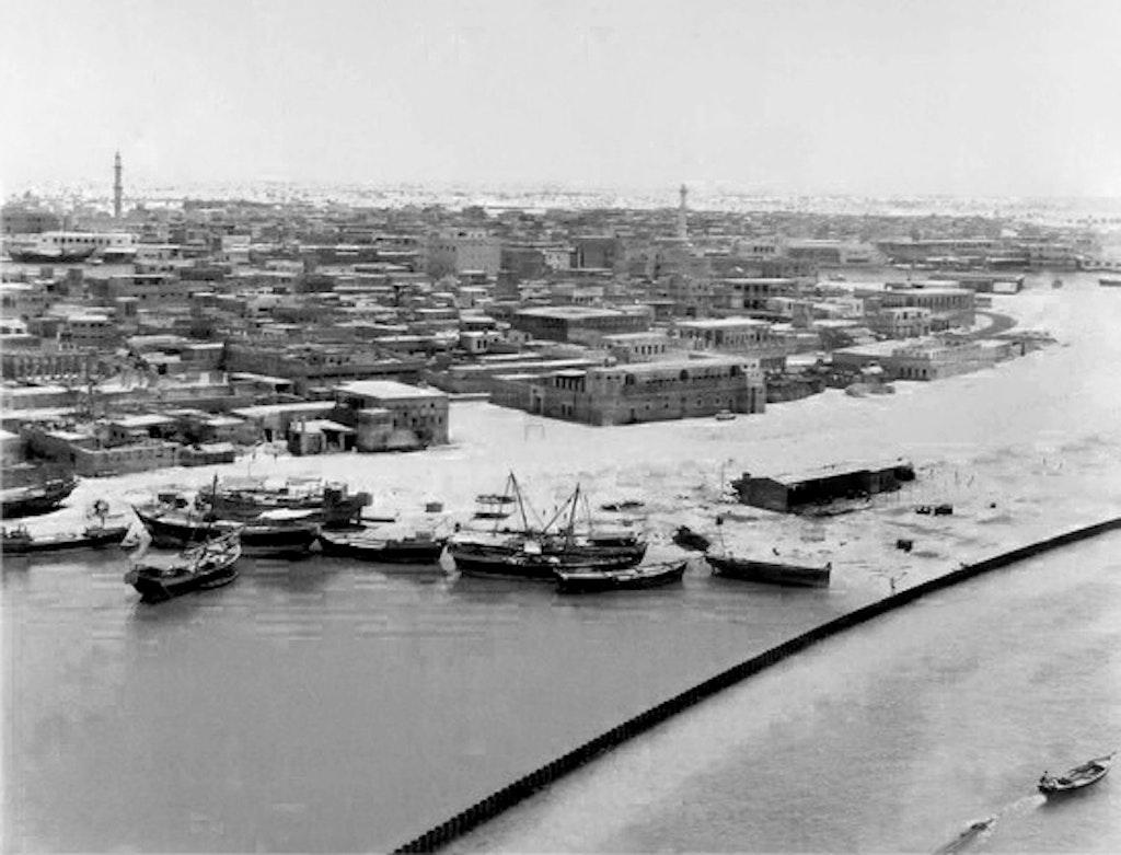 Dubai Waterfront in 1954