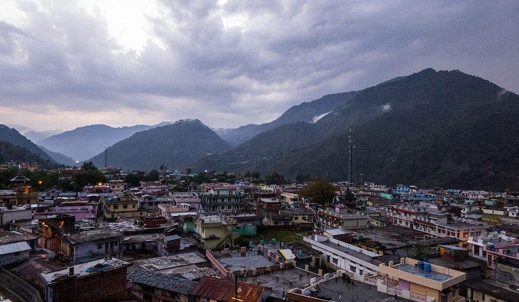 A view of Barkot town