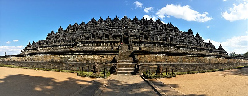 Borobudur temple in Yogyakarta, one of the best places to go on a getaway from Singapore