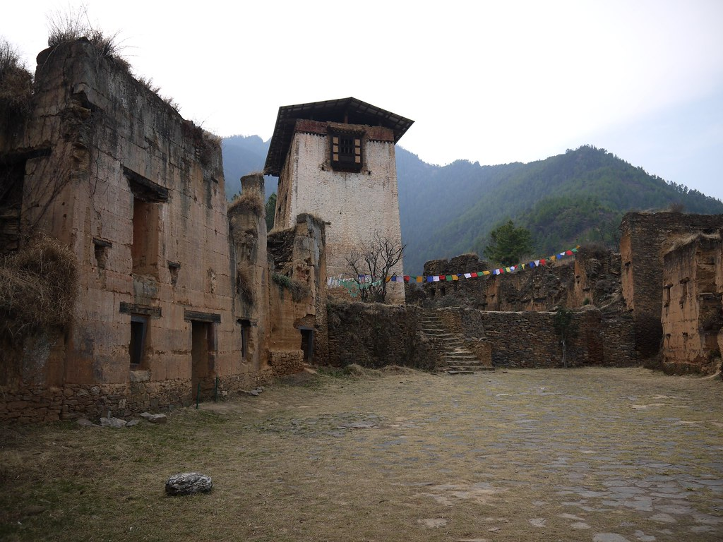 Amazing ruins in Drukgyel Dzong , Paro