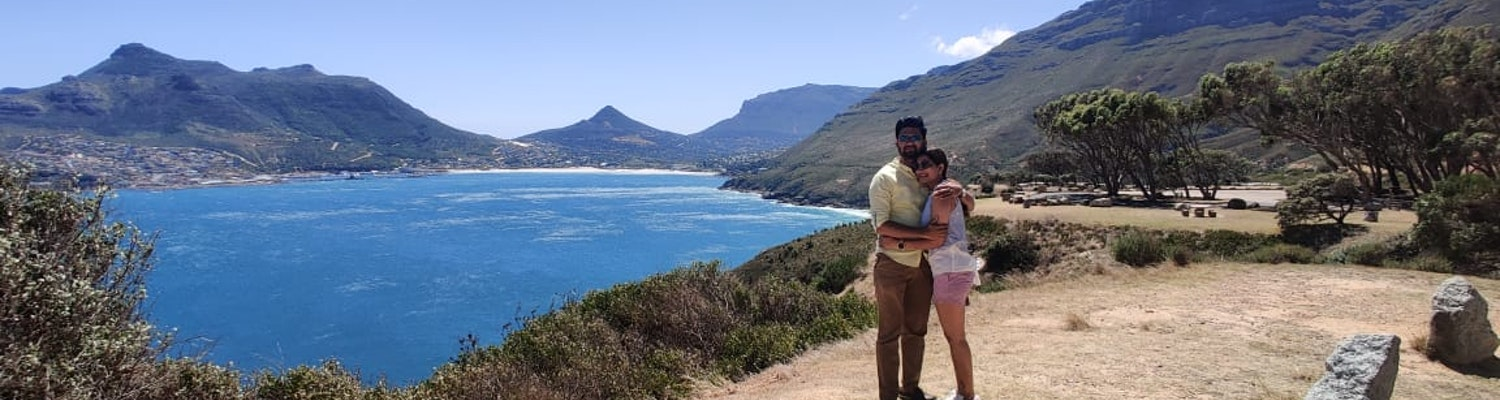 A couple standing near the beach in South Africa