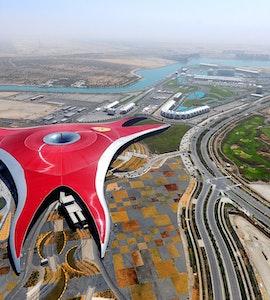 Ferrari world birds eye view
