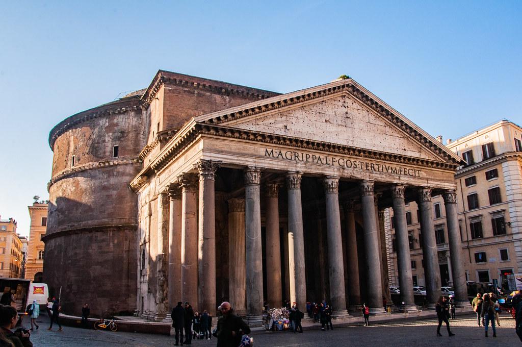 The Pantheon Temple entrance