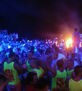 Full moon party in Thailand