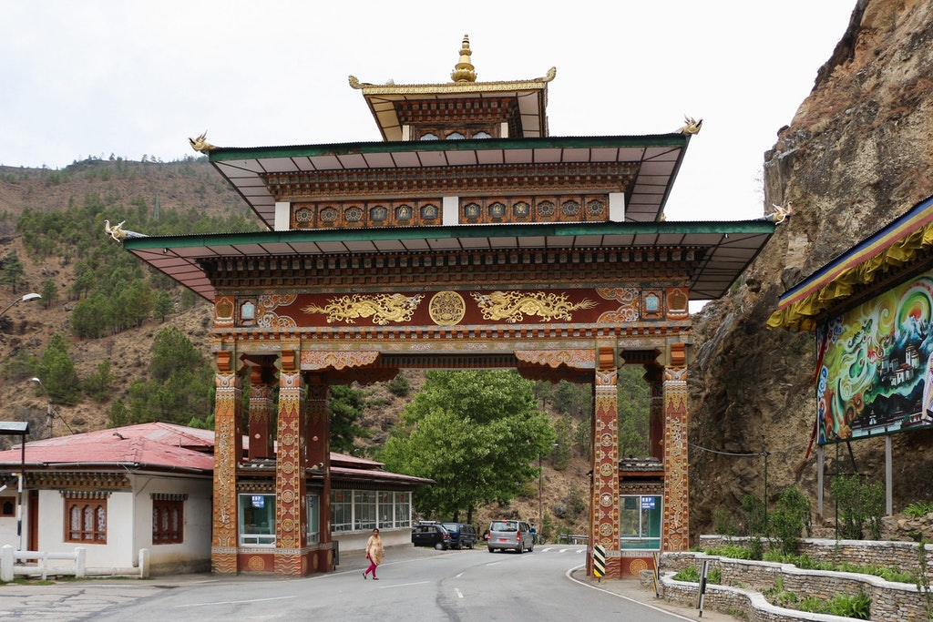 Bhutan Gate in Phuentsholing