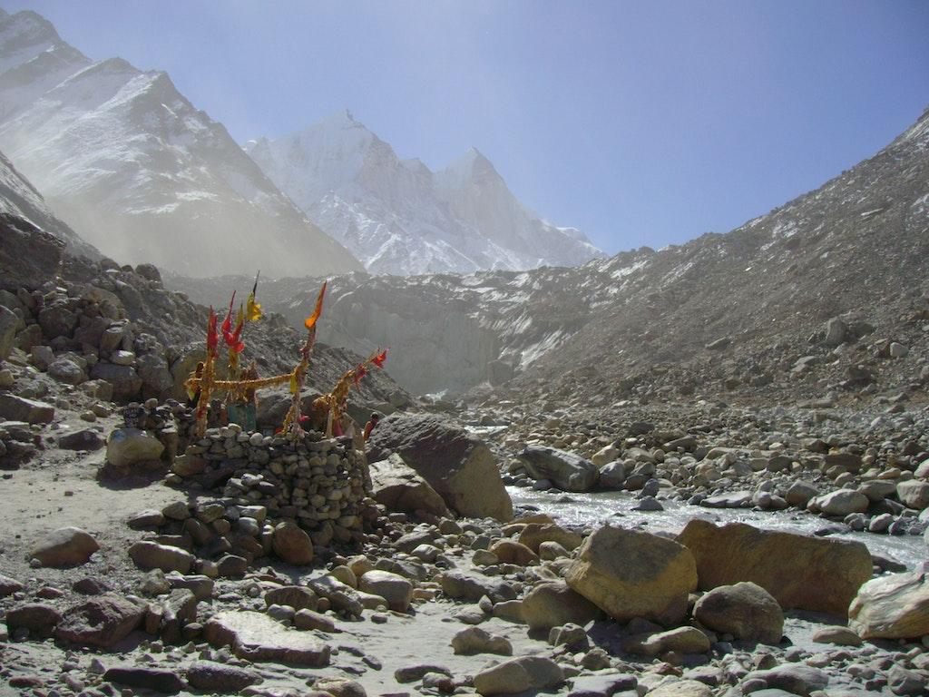 Gaumukh site at Gangotri Glacier, a holy pilgrimage among Places to Visit in Uttarakhand.
