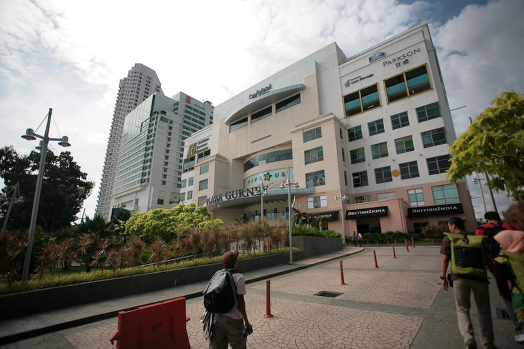 Exterior of Gurney Plaza in Penang, malaysia
