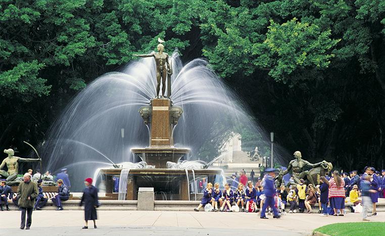 Archibald Fountain at Hyde Park