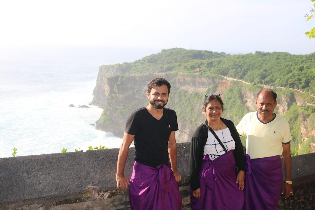 A beautiful family at Bali
