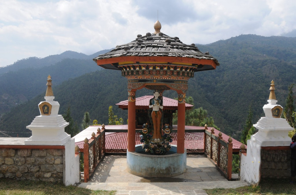 An amazing picture of Khamsum Chorten, the historical monument in Bhutan