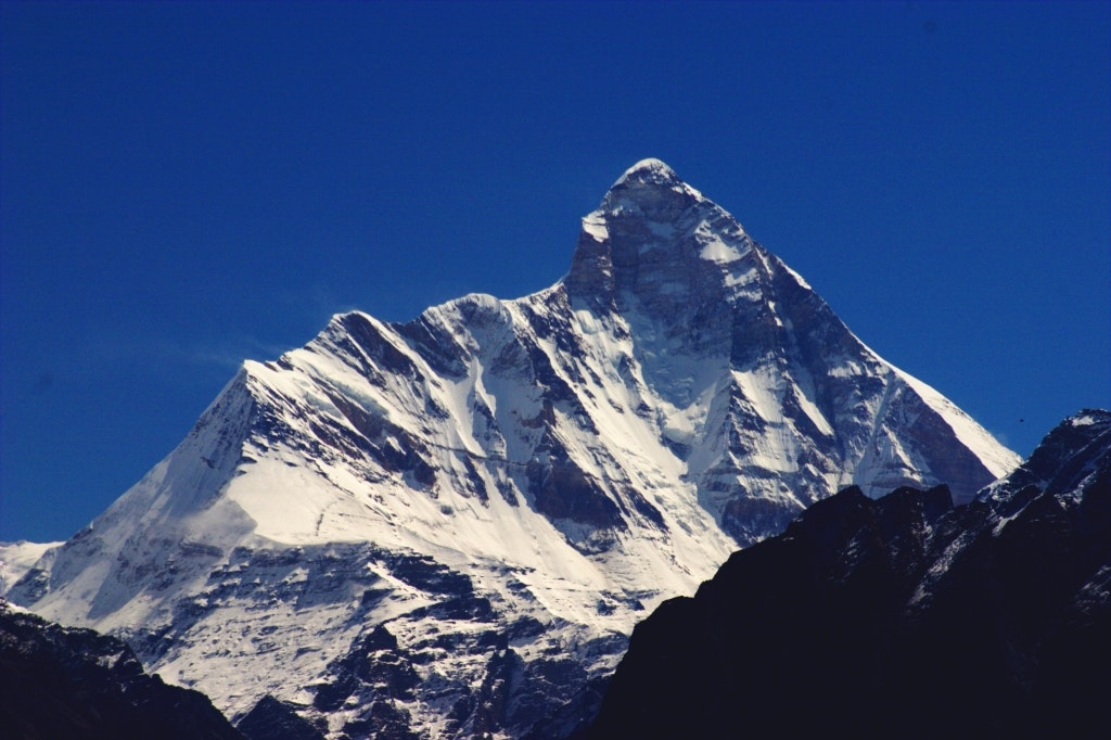 View of Nanda Devi peak from the national park one of the offbeat places to visit in Uttarakhand