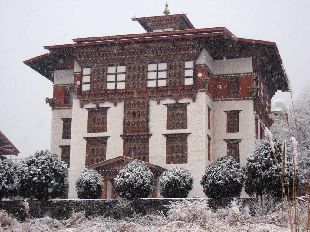 National Bhutan Library in December