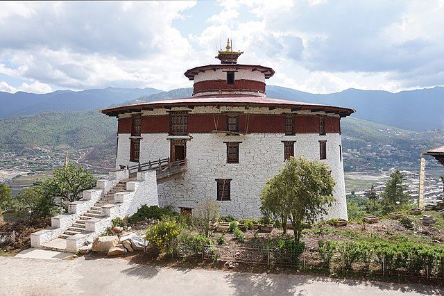 A view of The national museum of Bhutan